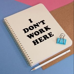 Ban.Do I Don't Work Here Draft Notebook